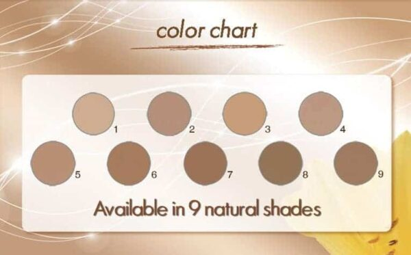 Coverderm Camouflage Perfect Leg Color Shades