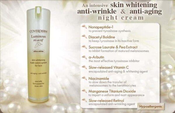 Coverderm Luminous Ultra White Tri-actif product details