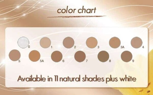 Coverderm Camouflage Classic color shades