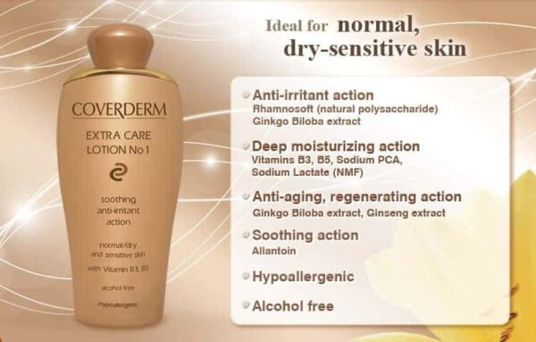 details on Coverderm Camouflage Extra Care Lotion No 1