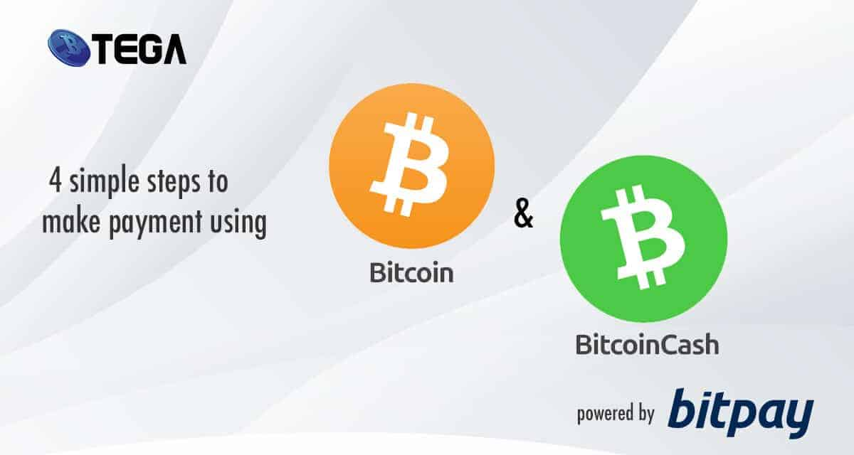 These is 4 simple steps on how you can make payment using Bitcoin and Bitcoin cash in Btega