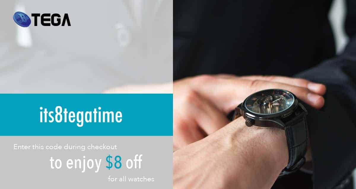 What time is it? Key in Promo code to enjoy $8 off for your watches purchase