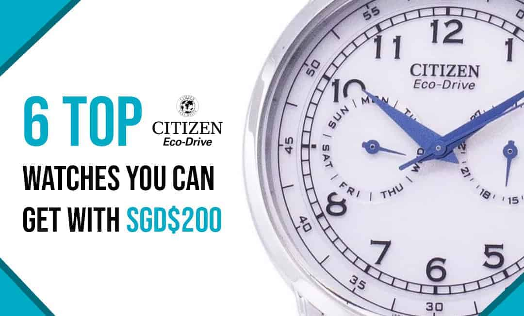 six top citizen eco-drive watches for men that you can buy with less than $200 in online shopping singapore Btega