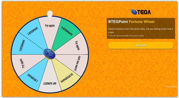 BTEGPoint fortune wheel