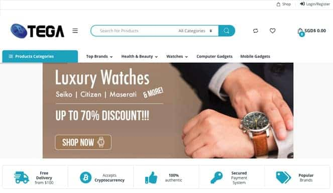 online shopping site in Singapore Btega